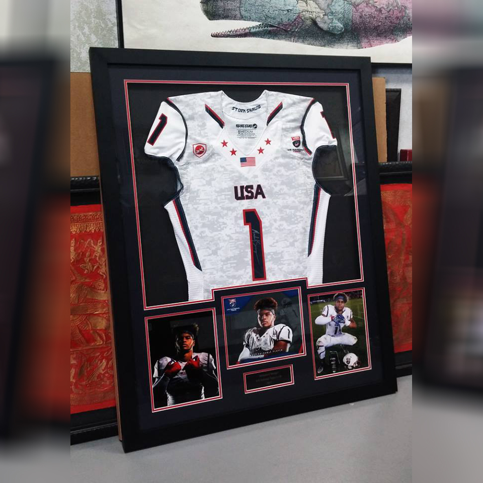 Jersey frames arthaus custom picture framing sports jersey collectibles frame gallery jeuxipadfo Gallery